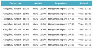 hangzhou airport to Yiwu by bus