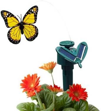 Solar-powered fluttering butterfly