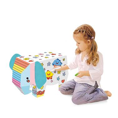 Paper cartoon animal drawing toy