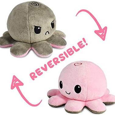 Cute reversible octopus plush toy