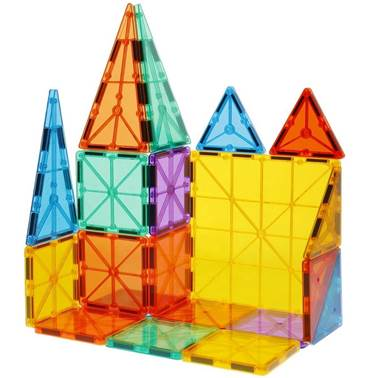 3D magnetic building blocks