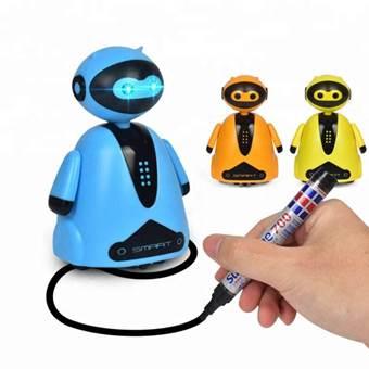 Electronic plastic educational robot toy