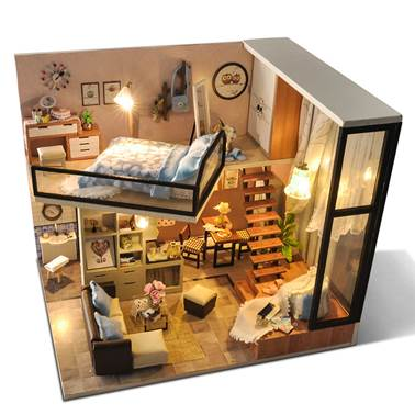Assembled wooden house toy