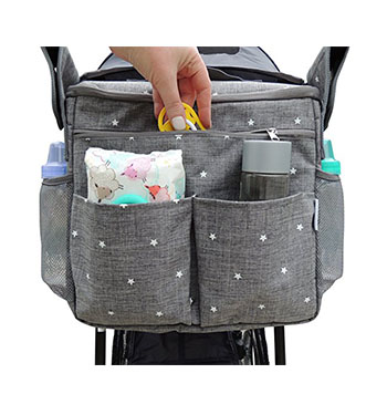 Stroller diaper bag Diaper pouch. Features  Used for hanging on a stroller,  functional and stylish. Be designed for modern parents, with classic needs. 0c2be11ad2