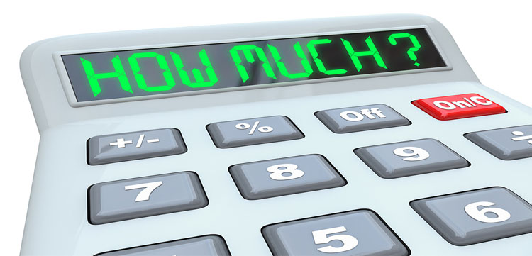 price on calculator