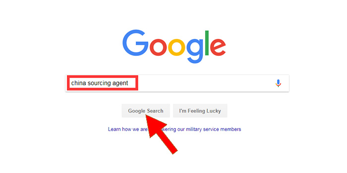 search sourcing agent on google