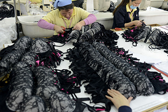 small scale lingerie factory
