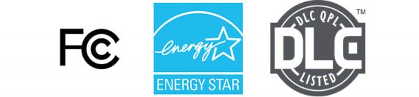LED certifications for North America (FCC & energy star & DLC)