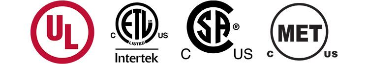 LED certifications for North America (UL ETL CSA & MET)