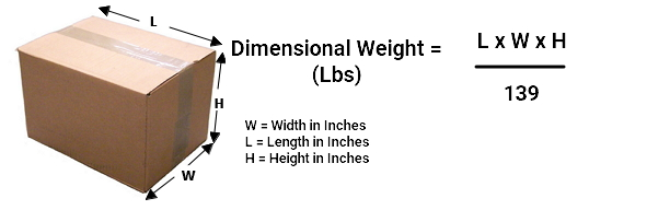 amazon dimensional and weight calculation