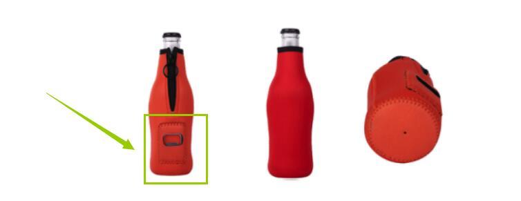 Beer bottle sleeve with bottle opener