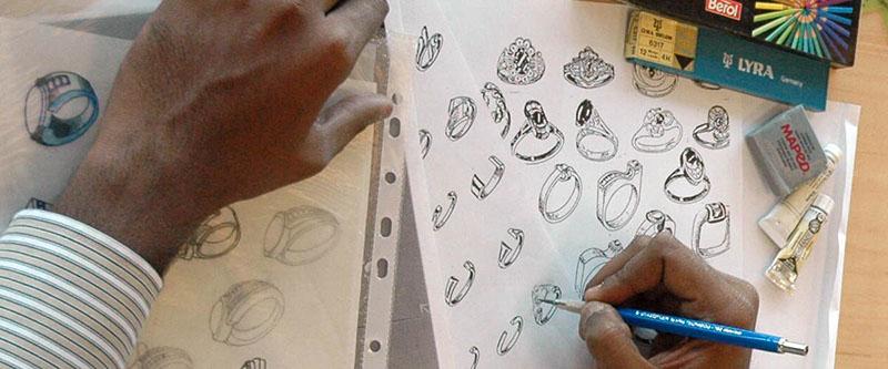 design manuscript of ring