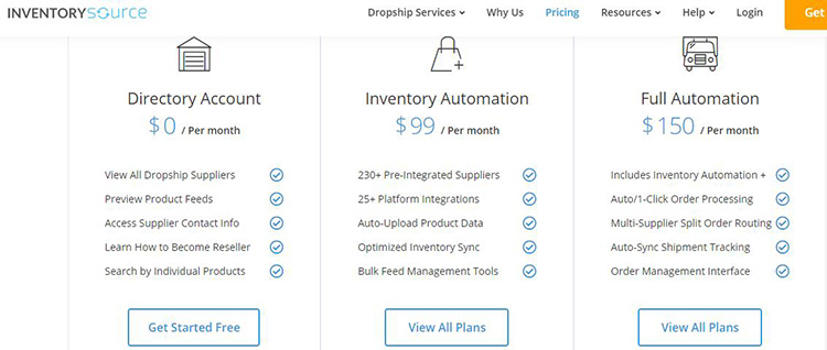inventory source pricing plan