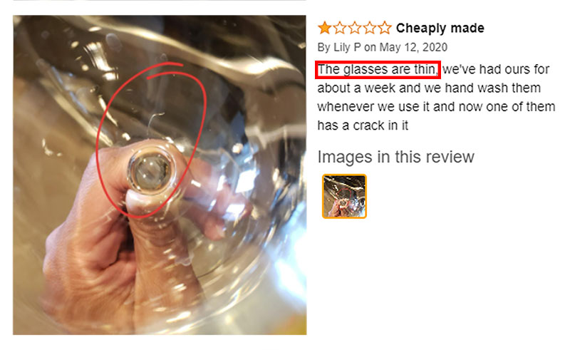 customer review of wine glass