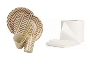 disposable tableware and toilet paper