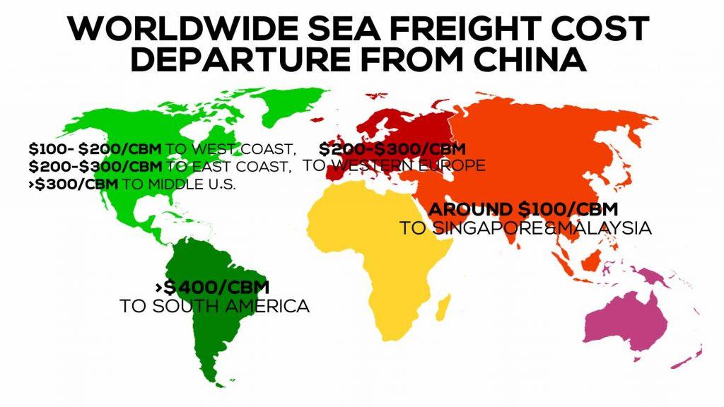 worldwide sea freight costs